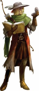 A Pathfinder agent. Note the Wayfinder, a magical compass carried by all agents.